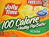 Jolly Time 100 Calorie Healthy Pop Butter MINI Bags (Pack of 2) 10 Count Boxes