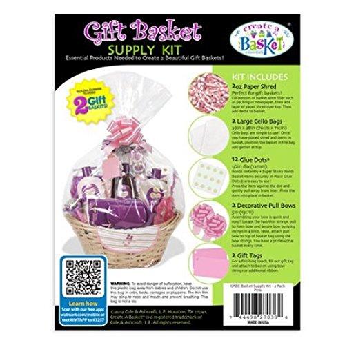 Create-A-Basket Essentials Gift Basket Supply Kit, (Dots Gift Basket)