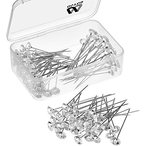 - Outus 100 Pieces Flower Pins Corsages Pins Head Pins Wedding Bouquet Pins Crystal Pins Floral Bouquet Pins Clear (2 Inch)