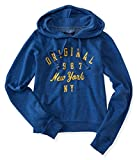 Aeropostale Womens Original NY Hoodie Sweatshirt Blue XL - Juniors