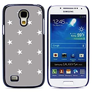 Graphic4You Stars Pattern Design Hard Case Cover for Samsung Galaxy S4 Mini (Gray)