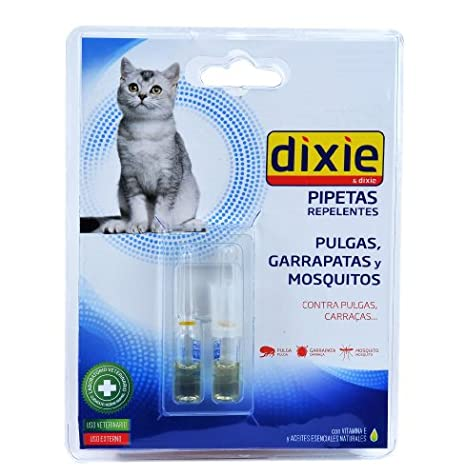 Dixie 1571260031 - pipeta repelente parã¡sito para gato: Amazon.es: Productos para mascotas