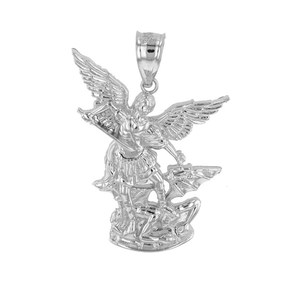 Fine 925 Sterling Silver Saint Michael The Archangel Charm Pendant