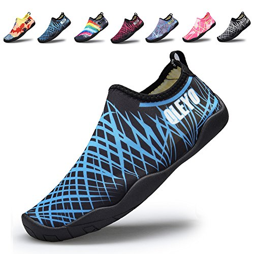 QLEYO Men and Women Water Sports Shoes Barefoot Quick-Dry Multifunctional Sneakers with Drainage Holes W5-39