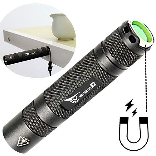 WISSBLUE X2 Military Grade Tactical Flashlight Rechargeable,6 Mode 1600 High Lumen Flashlight,Best 18650 Led Tactical Flashlight Black set by WISSBLUE (Image #7)