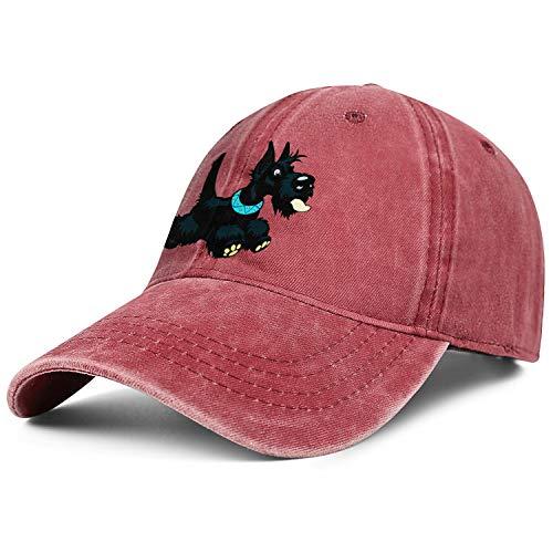 - Unisex Scottish Terrier Cowboy Hats Fashion Adjustable Sun Caps