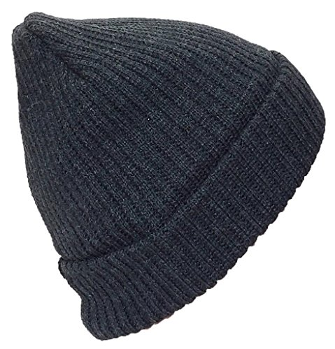 Best Winter Hats Adult Solid Color Thick W/Fleece Lined Cuffed Beanie (One Size) - ()