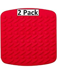 Buy 2 Piece Premium Multipurpose Silicone Kitchen Tool - Pot Holder, Trivet Mat, Jar Opener, Spoon Rest, - Non Slip... reviews