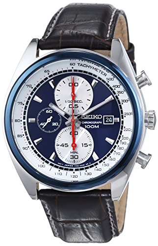 Seiko Men's Quartz Watch SNDF95P1 with Leather Strap