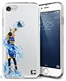 iPhone6/6S iPhone 7/iPhone 8 Case Epic Cases Ultra Slim Crystal Clear Basketball Series Soft Transparent TPU Case Cover Apple - Curry Warriors (iPhone 6/6s) (iPhone 7) (iPhone 8)