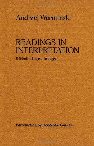 readings in interpretation warminski andrzej gasche rodolphe