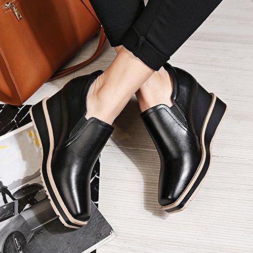 Zapatos Tacn Alta Profundos Cuadrados Oto Dhg De Alto Primavera 34 Casuales Gama Y negro Con O g1nqUF