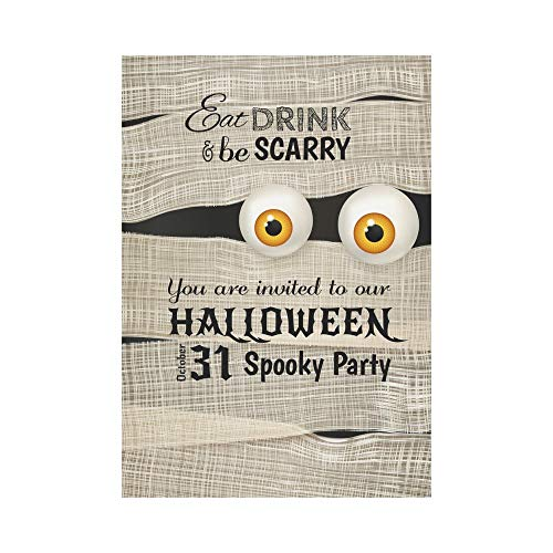 HUVATT Cool Halloween Mummy Polyester Garden Flag Outdoor Banner 28 x 40 inch, Unique Gift Decorative Large House Flags for Party Yard Home Decor