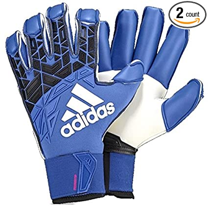new product ff460 9929d Adidas Ace Trans Fingersave Pro Goalkeeper Gloves Blue Black White - 7