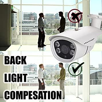 Bullet Security Camera 1080p Weatherproof for Outdoor and Indoor Day Night by ventech Hybrid AHD 2mp 12v