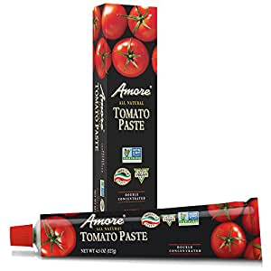 Amore All Natural Tomato Paste, 4.5 Ounce Tubes (Pack of 12)