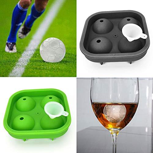 Molde de silicona para cubitos de hielo con forma de balón de ...