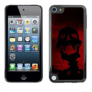 LECELL -- Funda protectora / Cubierta / Piel For Apple iPod Touch 5 -- Evil Laughing Skull Skeleton --