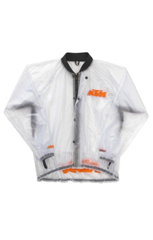 KTM透明雨ジャケットMサイズ B00MF10UH0