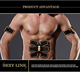 Wireless Electronic Muscle Toner Fitness System Body Massager / Unisex Wireless Muscle Stimulation Body Toning System ABS FIT Gear Training Fitness Body Fit For Arm / Abdomen / Thight