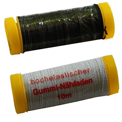 100 m hutgummi goma cordel 2 mm negro Goma cordel