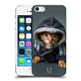 Head Case Designs Abyssinian Kitten In A Hoodie Funny Animals Protective Snap-on Hard Back Case Cover for Apple iPhone 5 5s