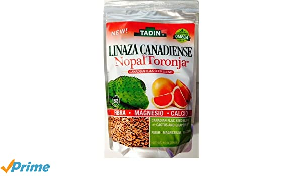 Amazon.com : Tadin Linaza Canadiense Nopal Toronja 14 oz. : Grocery & Gourmet Food