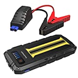 Car Jump Starter RAVPower 300A Peak Current (for All 12V 2.0 L Gas Engines) Quick Charge Portable Jumper External Battery Pack Power Bank Power Pack 8000mAh Car Battery Booster, Built-in Flashlight