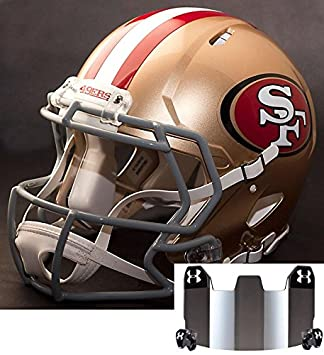 0f7168560 Image Unavailable. Image not available for. Color  Riddell Speed SAN  Francisco 49ers NFL Replica Football Helmet ...