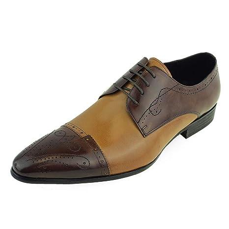 Zapatos Oxford De Vestir Cap Hombres Toe Únicos Vintage Los sCtrxodBhQ