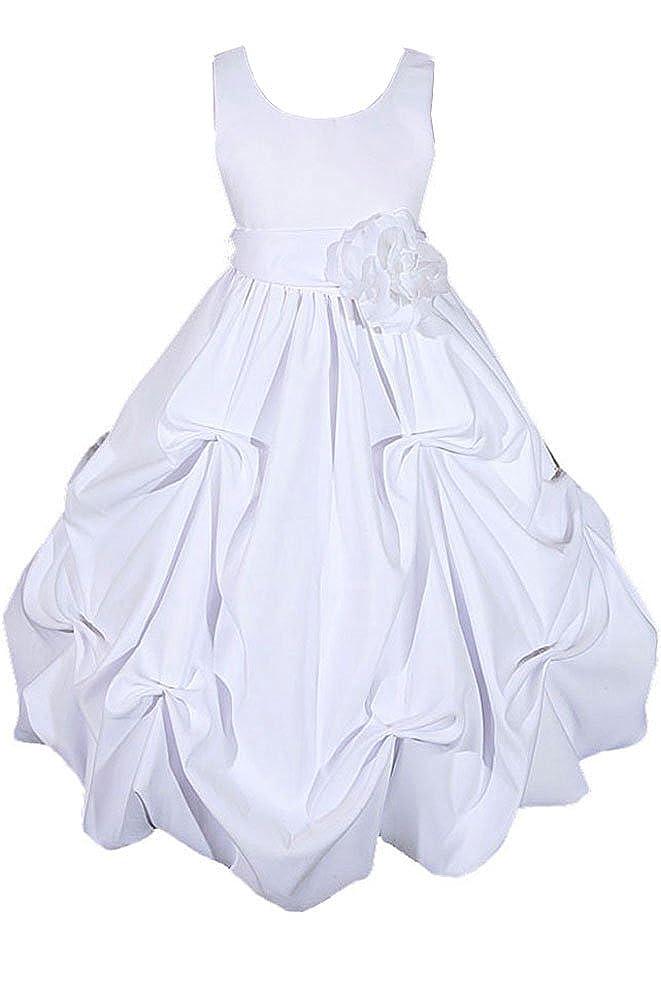 3e756c69b67e5 Amazon.com: AMJ Dresses Inc Girls White Flower Girl Communion Dress Size 6:  Special Occasion Dresses: Clothing