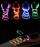 Flammi 1 Pair of LED Shoelaces Light Up Shoe Laces with 3 Light Modes Flash Lighting the Night for Party Hip-hop Dancing (Blue Light)