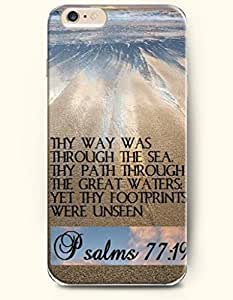 iPhone Case,OOFIT iPhone 6 (4.7) Hard Case **NEW** Case with the Design of Psalms 77:19 Thy way was through the sea thy path through the great waters ye thy footprints were unseen - Case for Apple iPhone iPhone 6 (4.7) (2014) Verizon, AT&T Sprint, T-mobile