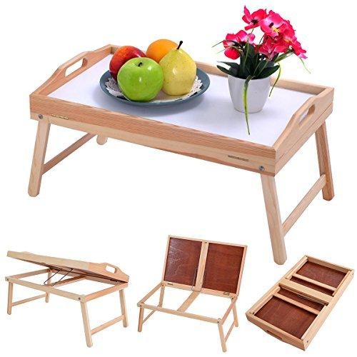 New Wood Bed Tray Breakfast Laptop Desk Food Serving Hospital Table Folding Legs