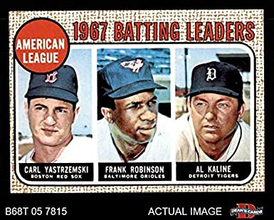 Amazoncom 1968 Topps 2 Al Batting Leaders Al Kaline