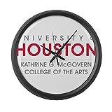 CafePress - Houston Cougars College Of Arts - Large 17'' Round Wall Clock, Unique Decorative Clock