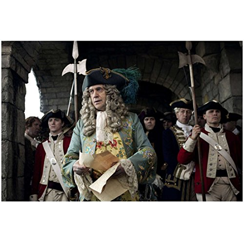 Pirates of the Caribbean: On Stranger Tides (2011) 8 inch by 10 inch PHOTOGRAPH Jonathan Pryce Long Grey Wig & 3 Corner Hat kn ()