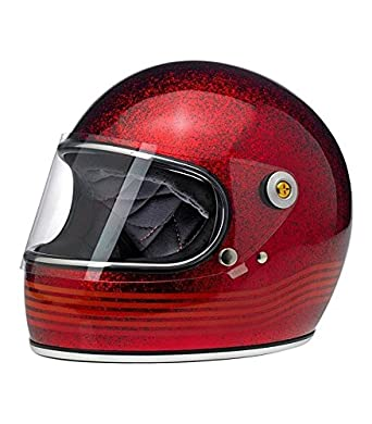 Casco para moto, Gringo S Le Spectrum, color rojo purpurina L rojo