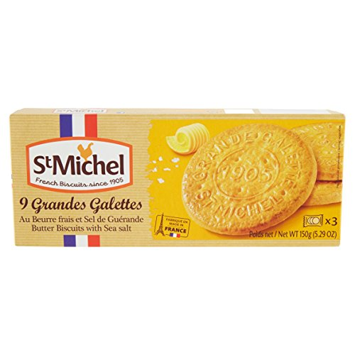 St Michel La Grande Galette Salted Butter, 5.3 (Grand Gourmet Cookie)