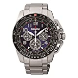 Seiko Mens Solar Powered Stainless Steel Watch SSC275P9