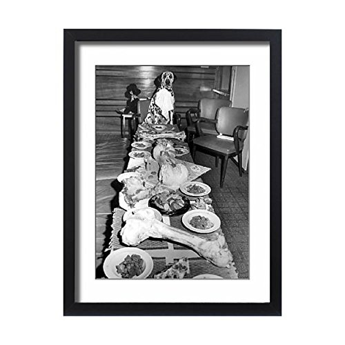 Media Storehouse Framed 24x18 Print of A Dog s Dinner, 19th August 1963 In honour of his first birthday (10921207)