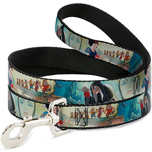 Buckle Down Dog Leash Snow White Dwarves Old Witch Evil Queen Scenes 6 Feet Long 1.0 Inch Wide (Evil Buckle)
