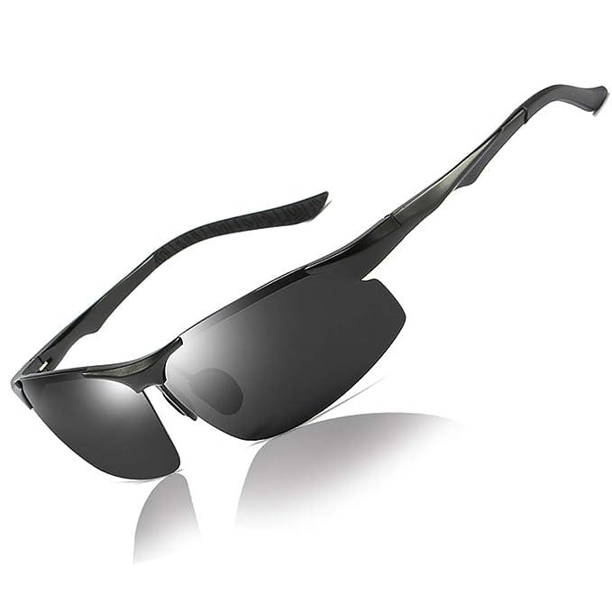 03f2f8cb922f Polarized Sunglasses for Men Women UV Protection HD Sports Sunglasses for  Cycling Driving (Black)