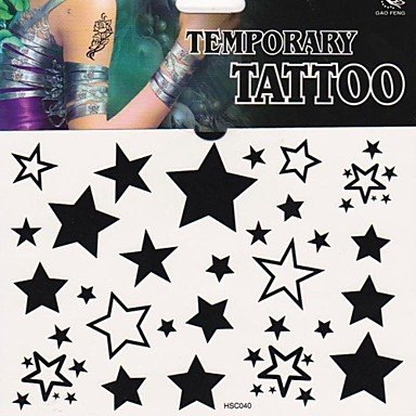 Discount 1Pc Fashion Star Tattoo Stickers Temporary Tattoos hot sale