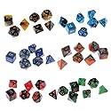 Lovoski 約42個 多面体 ダイス 多面骰子 サイコロ D20-D4 DND MTG RPGゲーム用 小道具