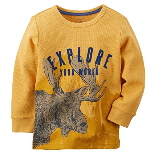 Carter's Boy L/S Flocked Thermal Tee; Yellow (6 Months)