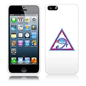 Fincibo (TM) Apple iPhone 5 5S Protector Cover Case Snap On Hard Plastic - HORUS EYE, Front And Back