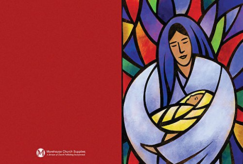 Stained Glass Mary with Jesus Christmas Cards (Pack of 12): Message inside. Gift boxed with 12 cards and matching envelopes (Jesus Boxed Christmas Cards)