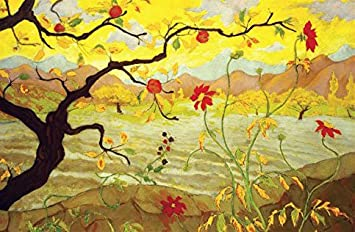 Ranson Apple Tree Red Fruit Painting XL Wall Art Canvas Print