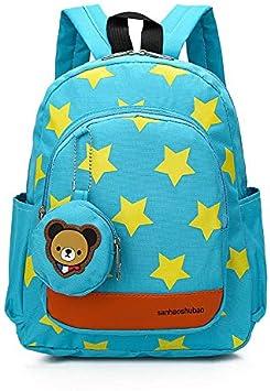 blau Blau - 8W96248905LXCBQG16EA Ikavee Kinder Rucks/äcke Sterne Muster Schule Kleinkind Taschen mit niedlichen B/ärentaschen Kindergarten Daypacks f/ür Jungen M/ädchen Outdoor Rucksack